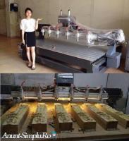 Masina CNC multihead pentru sculpturi in lemn