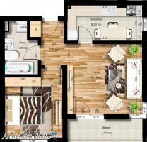 Apartament 2 camere, 49mpu, Militari