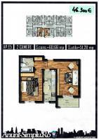 Apartament 2 camere, decomandat, 51mpu, Militari