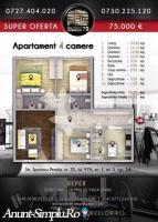 Apartament 4 camere, 97mp, Sebastian, Bucuresti