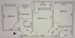 Braila, ultracentral, apartament 3 camere