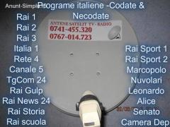 Antene satelit: ITALIENE, ROMANESTI.etc.