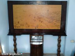 Pirogravura in lemn + MiniBar Vintage