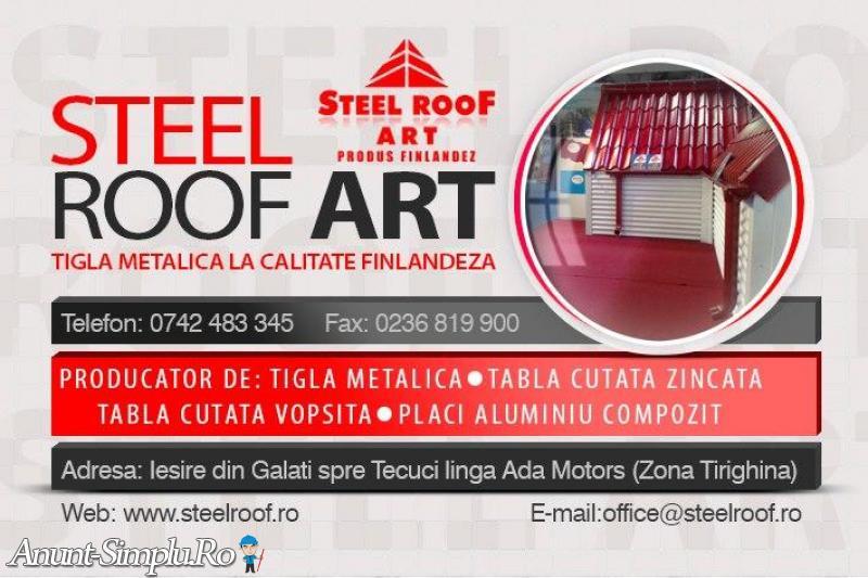 Fabrica de tigla metalica STEEL ROOF ARTUS