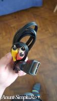 Cablu av audio- video rca ps1 ps3 playstation nou