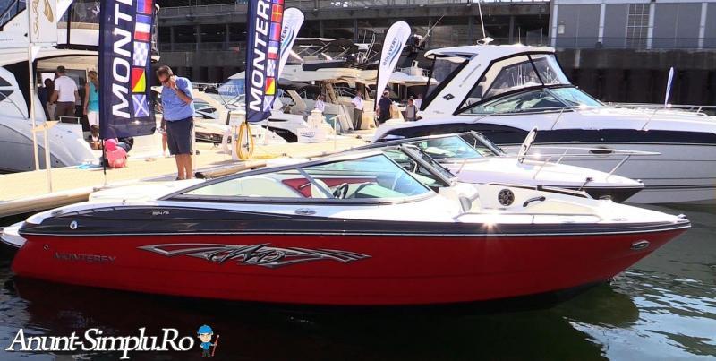 barca Monterey 224FSX cu motor 240 CP