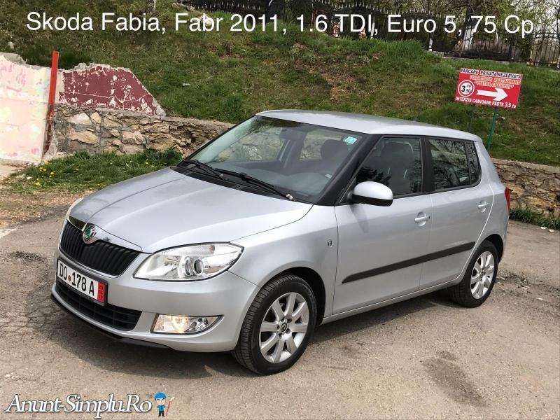 Skoda Fabia 2011 EURO 5 1.6TDI