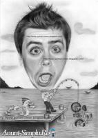 Portrete si caricaturi desenate dupa fotografie in creion
