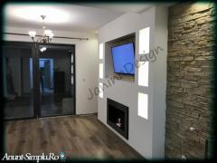 Montaj piatra decorativa pentru interior