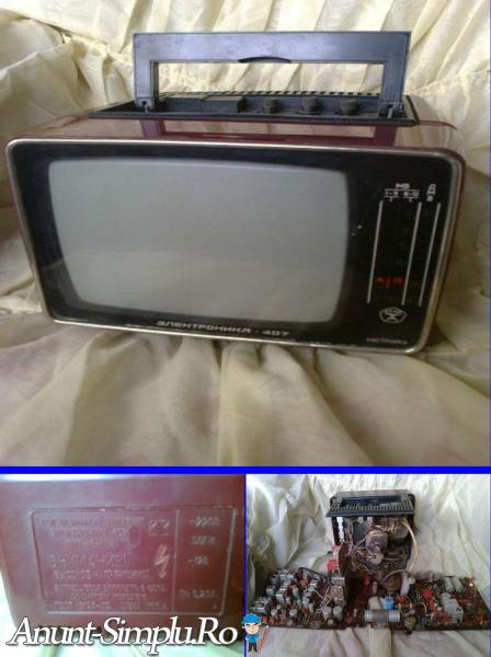 Televizor vechi rar mic rusesc