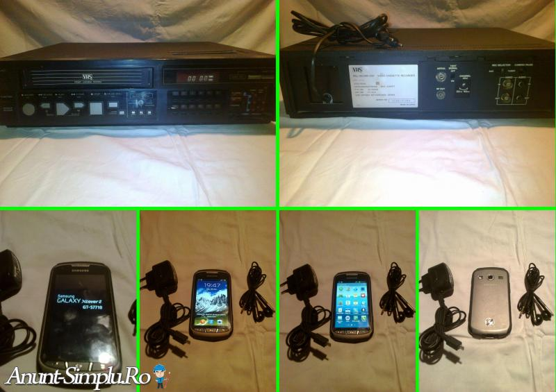 Tel Samsung Xcover2 si Videorecorder VHS rar