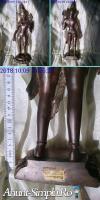 Statueta bronz rara India sec XIX