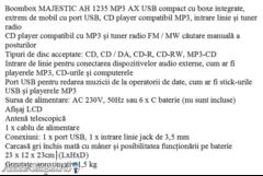 Radio CD Majestic si Radio dublucas Crown