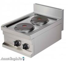 Aragaz inox electric 2 plite rotunde de banc