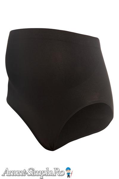 Chiloti cu talie inalta pentru gravide negru