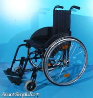 Scaun cu rotile din aluminiu  Sopur / latime sezut 45 cm