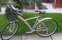 "Bicicleta unisex Decathlon B'twin, roti pe 28"", 18 viteze"