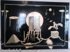 """Pictura pe lemn """" Decaderea """""""